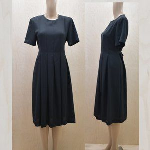 Vintage 80s Orvis Pleated Fit and Flare Dress